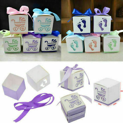 20X Baby Foot Shower//Laser Cut Carriage Table Bags Decor Candy Boxes Favor Gifts
