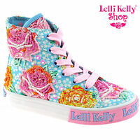 Lelli Kelly Lk4090 (bf02) Light Blue Fantasy Rosie Baseball Boots