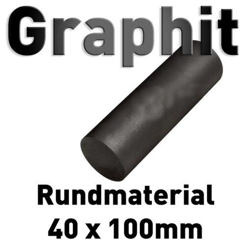Graphit Rundmaterial 40 mm x 100 mm lang Zylinder Elektrode Stab Kohlenstoff 4