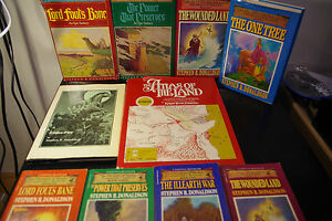 Stephen-R-Donaldson-Lot-Vintage-Fantasy-Lord-Foul-039-s-Bane-HC-1st-BC-Edition