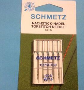Sewing Machine spezialnadeln SCHMETZ NEEDLES 130 N 14/90 Topstitch