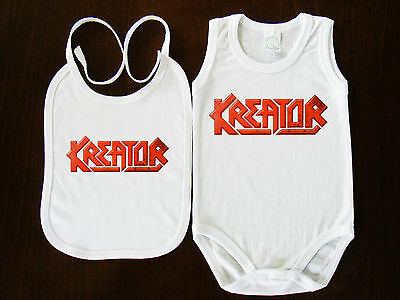 KREATOR  LOGO BIBS+BABY BODYSUIT ONESIE ONE PIECE CLOTHING