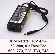 72W IBM NETZTEIL POWER SUPPLY 16V 4,5A THINKPAD T40 T41 T42 T43 770X 02K6751 N16