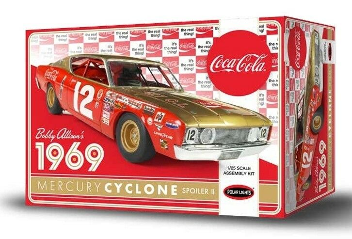1969 Coca Cola Mercury Cyclone Bobby Alison NASCAR 1 25 Polar Lights Plastic Kit