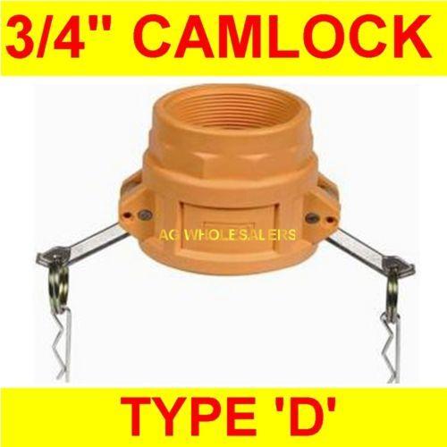 CAMLOCK NYLON TYPE D 3/4 CAM LOCK IRRIGATION FITTING