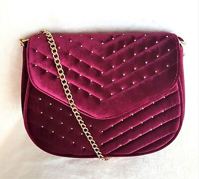 789a73a12c3 Women's Purse Velvet Burgundy by Urban Expressions BURGUNDY-ANDROMEDA  Retail $70 | eBay