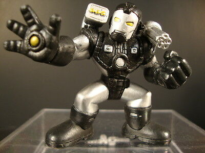 Silver Yellow Eyes /& Repulsors Marvel Super Hero Squad WAR MACHINE Charcoal