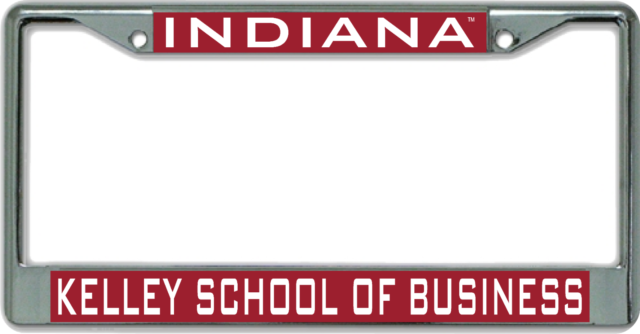 Indiana University Kelly School Of Business License Plate Frame For Sale Online Ebay