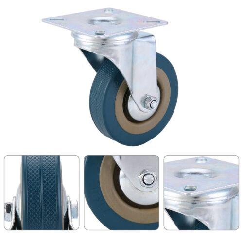 Heavy Duty 360KG 75mm Rubber Swivel Castor Wheels Furniture Trolley Caster Brake