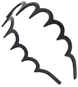 NEW GIRLS//Ladies Shark Tooth Tortoise Plastic Alice Band Hair Head Bands BLACK