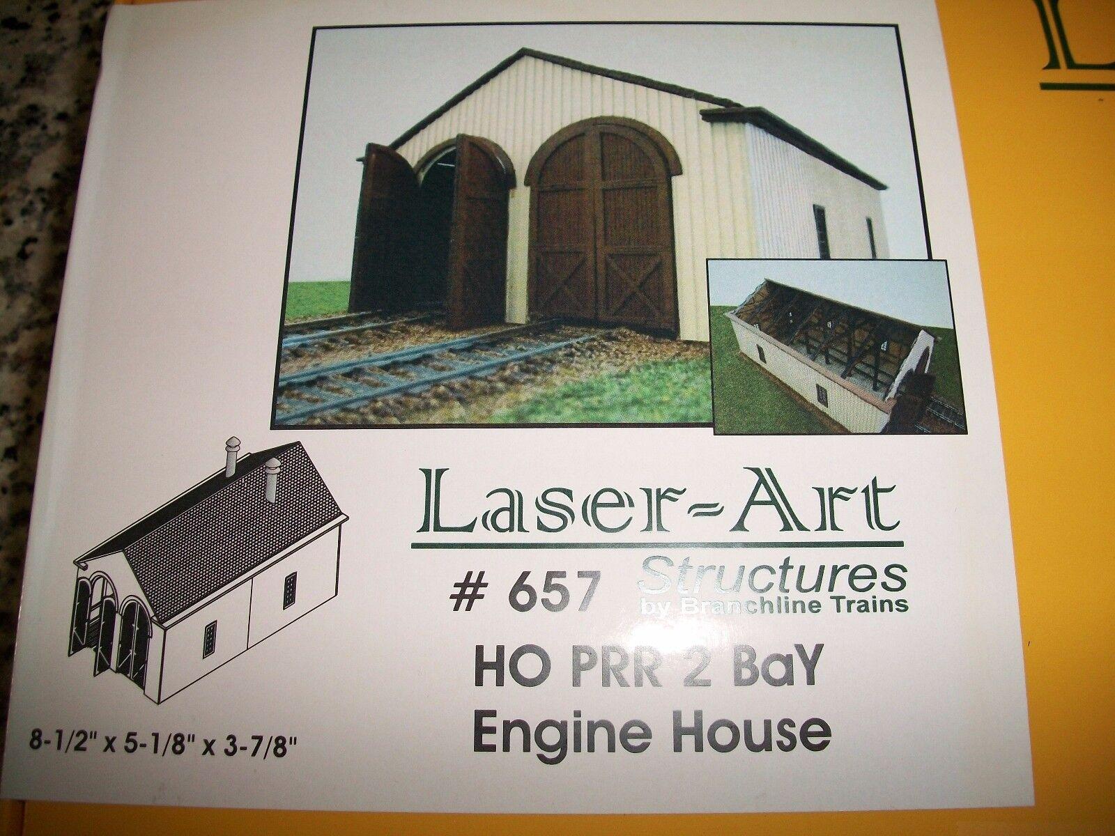 Branchline Laser Art Kit HO Scale PRR 2 Bay Engine House   657 Bob The Train Guy