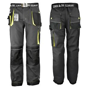 Pantaloni-da-Lavoro-Abbigliamento-Occupazione-Impermeabili-Grigio-48-60-Misura