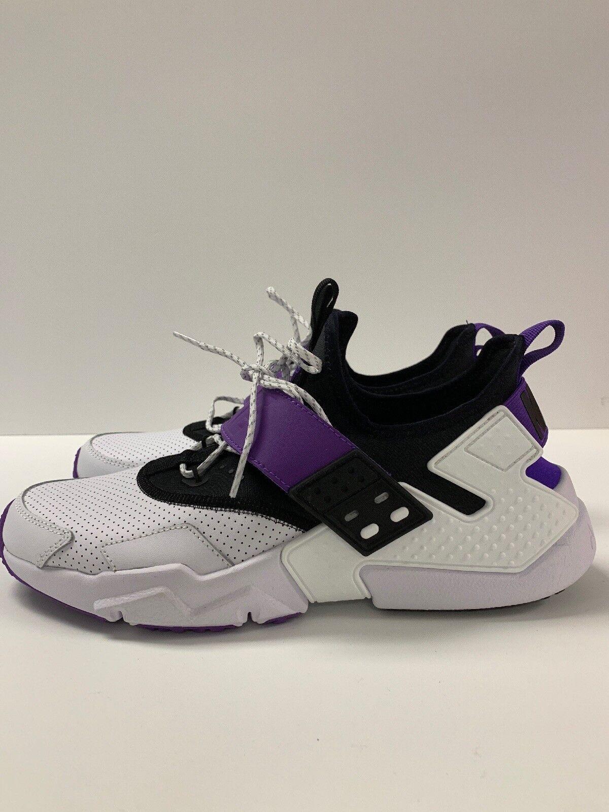 Nike Air Huarache Drift PRM Purple Punch size 10 white purple  AH7335-101