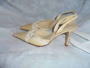 5 con 38 5 5 Donna fibbia in beige Collezione pelle Sandalo Venise Uk Vgc Eu YOwqpgv