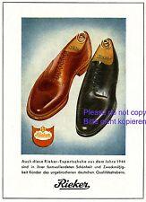 Rieker Shoes German 1944 ad Export WW2 war advertising ad