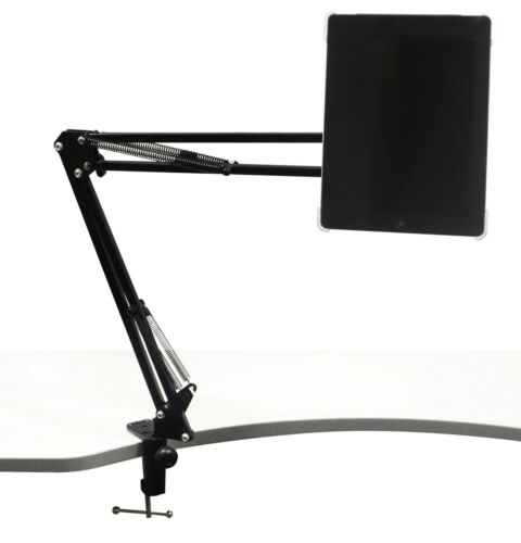 TELESCOPIC DESK MOUNTING STAND FOR MOBILE//IPAD//TABLET ETC WITH G CLAMP MOUNT