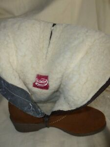 VINTAGE-CHILKWELL-GLASTONBURY-REAL-SHEEPSKIN-BOOTS-UK-5-5-BRITISH-MADE