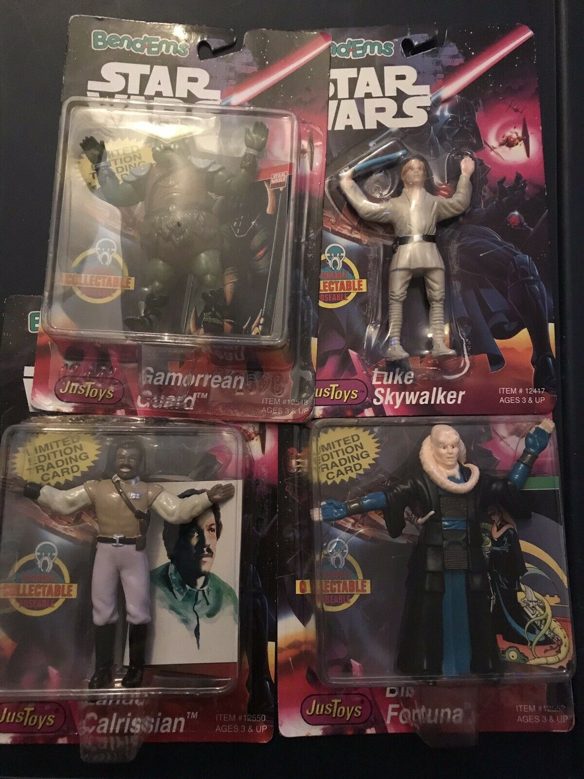 Star Wars Bend-Ems Luke Skywalker, Lando Calrissian, Bib Fortuna, and Guard