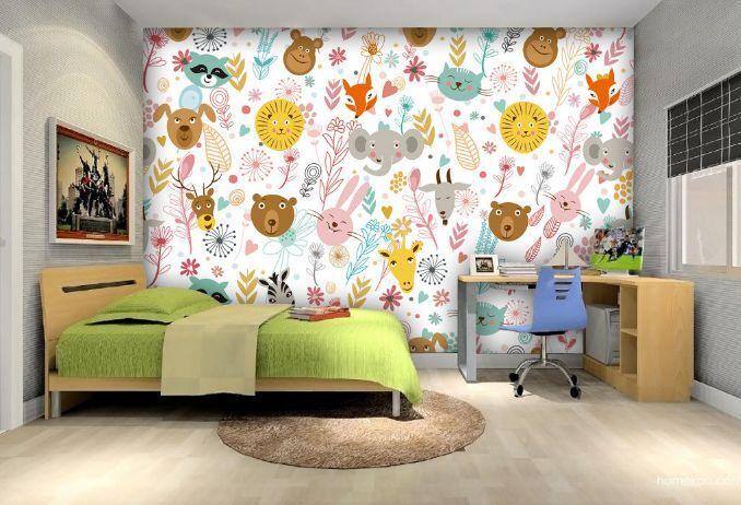3D Animal Pattern Design Paper Wall Print Decal Wall Wall Murals AJ WALLPAPER GB