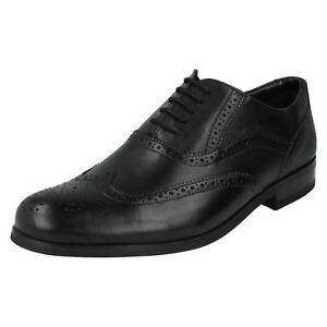 Zapatos cordones para de G negro con Brint de Brogue cuero Clarks Fit hombre rfqwCr