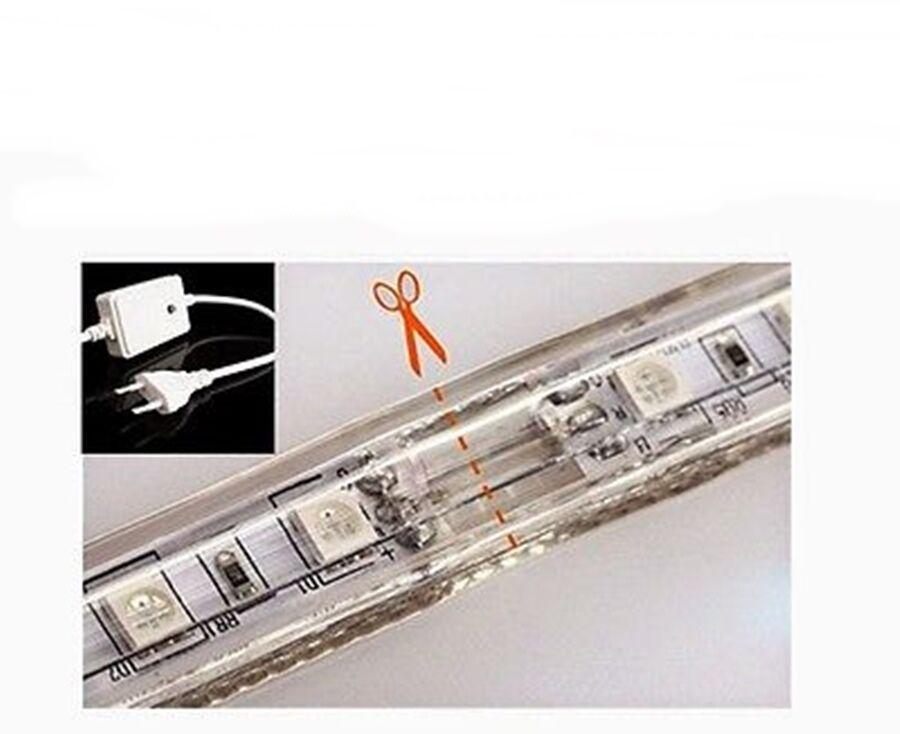 STRISCIA LED LED LED 220V STRIP RGB MULTIColoreee IMPERMEABILE MISURE PERSONALIZZATE 30-100 cc834b