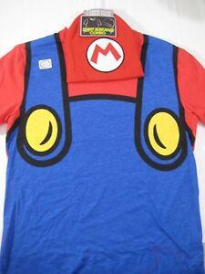 New-Nintendo-Super-Mario-T-Shirt-amp-Beanie-Combo-Set-Size-Small-Mens-Hat-Costume