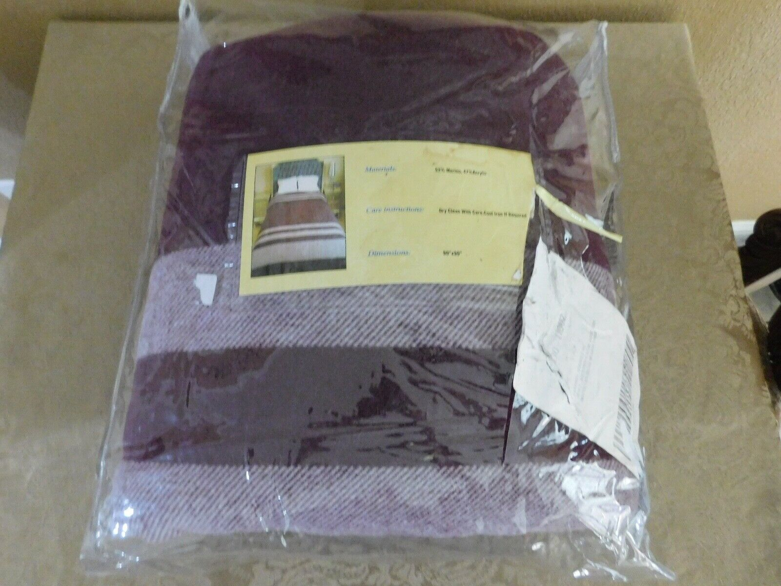 Full Queen Blanket Merino Soft and Warm by Lavish Home