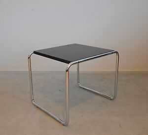 knoll international laccio 1 marcel breuer schwarz beistelltisch couchtisch ebay. Black Bedroom Furniture Sets. Home Design Ideas