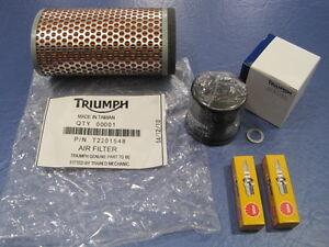 SPARK PLUGS TRIUMPH SERVICE KIT SCRAMBLER 865c OIL FILTER,AIR FILTER