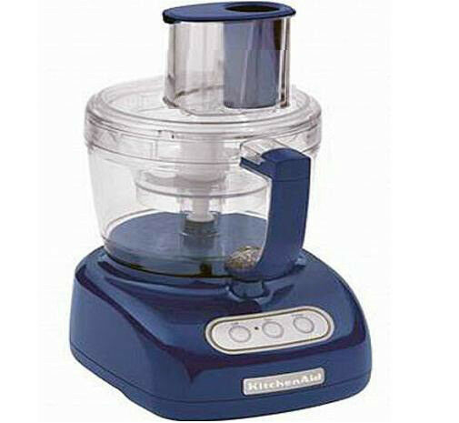 New KitchenAid 12 Cup WIDE MOUTH BIG Food Processor bluee Willow  kfpw761bw Super