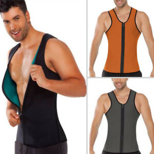 055d2ae1a7 Fashion Mens Vest Body Belly Shaper Sport Slimming Zip Belt Corset ...