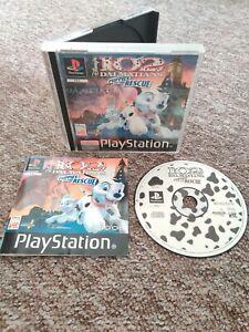 102-Dalmatinern-Welpen-zur-Rettung-seltene-Disney-Playstation-ps1-Spiel-Komplett