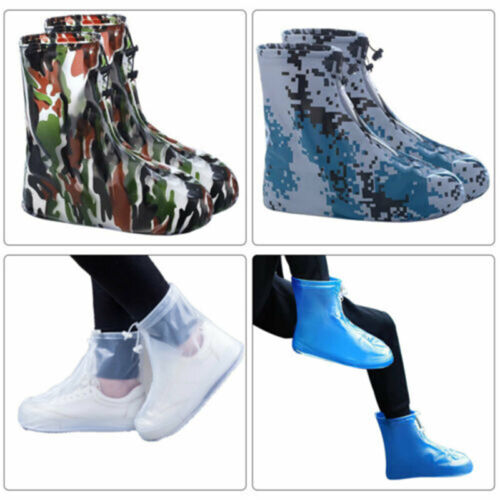 1 Pair Reusable Waterproof Shoe Covers Anti-Slip Rainy Snowing Boot Protector