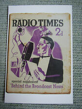 Postcard Vtg Radio Times Cover February 1939 BBC magazine Art deco Eric Fraser