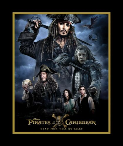 1  Disney Pirates of the Caribbean Fabric  Panel