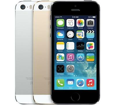 Apple iPhone 5s - 16 32 or 64GB - Gold Black Silver (AT&T) Smartphone *AVERAGE*
