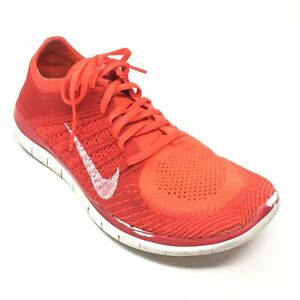 Nike Free 4.0 Flyknit Orange Running Shoes