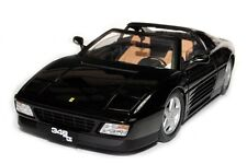 FERRARI 348 ts DIE CAST 1/18 BLACK BY HOT WHEELS ELITE X5481