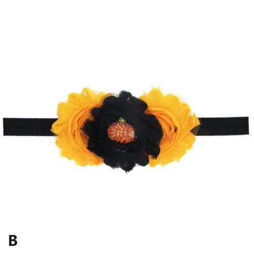 Baby Halloween Bat Bow Hairbands Headband Children Hair Gift High Elastic