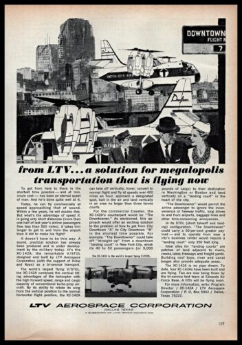 1965 LTV Aerospace Corporation XC142A VSTOL Military 1960s Vintage Print Ad