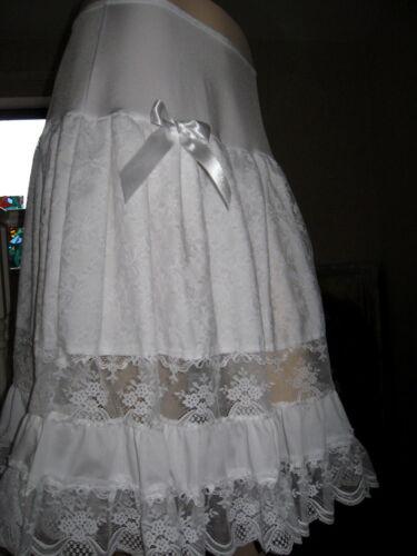 New Adult Lolita White black Lace petticoat Skirt Lagenlook hippy boho Gothic