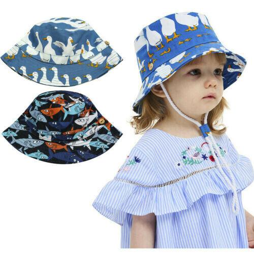 Toddler Baby Boy Girl Sun Hat Summer Beach Bucket Caps Kids Adjustable Visor Hat