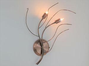 LAMPADA-PARETE-APPLIQUE-CLASSICO-MODERNO-RAME-ANTICATO