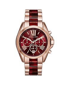 New michael kors bradshaw rose gold red chronograph mk6270 women image is loading new michael kors bradshaw rose gold red chronograph gumiabroncs Choice Image