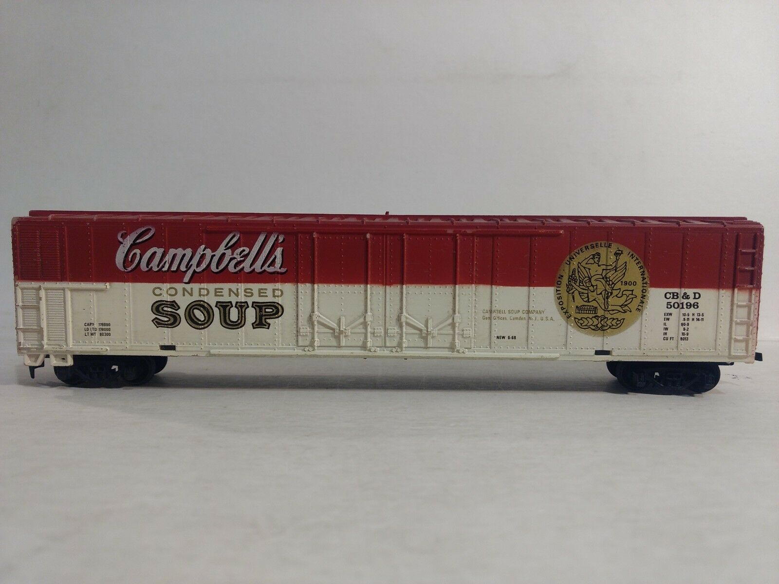 Rare Campbell's Condensed Soup CB & D 50196 Box Car ho Scale Train Car Tyco t519