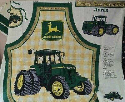 John Deere Big Green Tractor Adult BBQ Apron Cut /& Sew Craft Cotton Fabric Panel