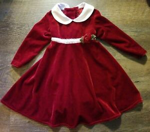 Gorgeous-Sophie-Rose-Infant-Baby-Girl-Sz-12mo-Christmas-Holiday-Red-Velvet-Dress