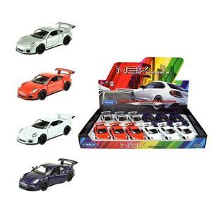 Porsche-gt3-RS-auto-deportivo-maqueta-de-coche-auto-aleatoria-color-1-34-con-licencia-oficial