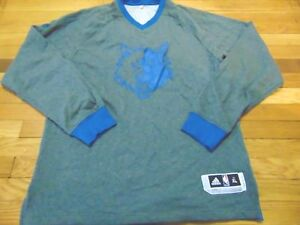 new product 54357 36a17 Details about ADIDAS NBA AUTHENTIC MINNESOTA TIMBERWOLVES CHRISTMAS  SHOOTING LS JERSEY XL+2