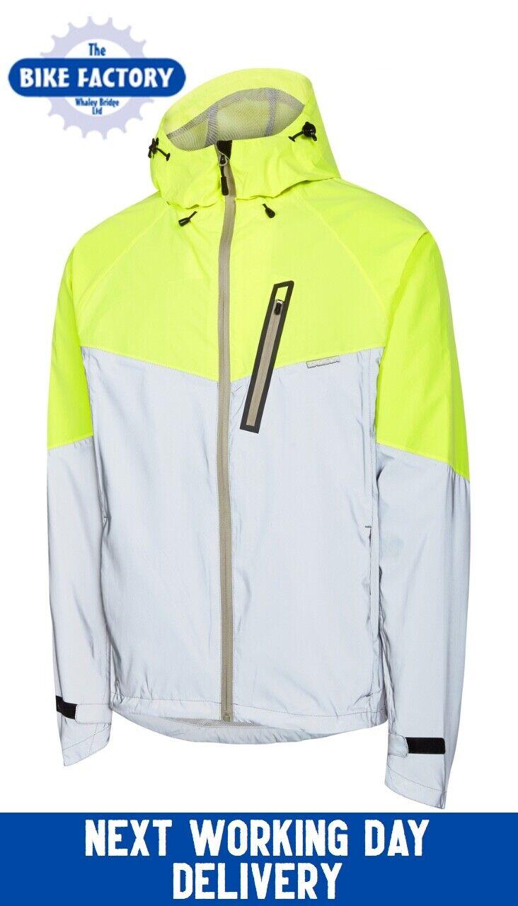 Madison – Stellar Men's Waterproof Commuter Jacket – Hi Vis –  Medium